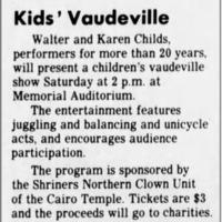 Kid Vaudeville Show