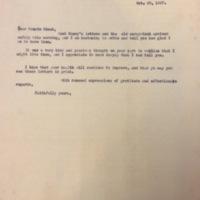 FPK to Edna Hale, October 29, 1927