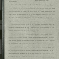 Letter from Frances to Louise- February 24, 1901