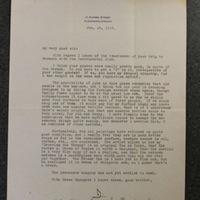 John Keyes to Peter Keyes, Feb 18, 1933
