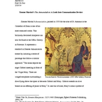 Essay: Simone Martini's , The Annunciation: A Look Into Communication Devices