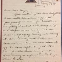 Betty to FPK, January 3, 1937