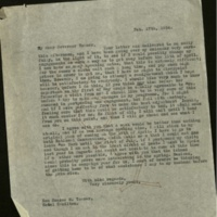 FPK to Horace M. Towner, February 17, 1924