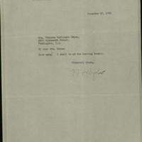 William Frederick Bigelow to FPK, December 17, 1920