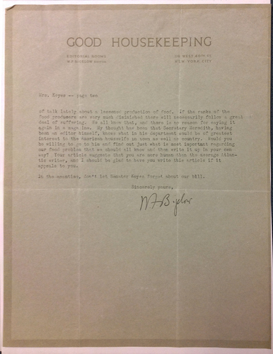 William Frederick Bigelow to FPK, March 18, 1920